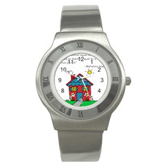 No School Greater    Stainless Steel Watch by athenastemple