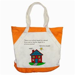 No School Greater    Accent Tote Bag by athenastemple
