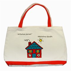 No School Greater    Classic Tote Bag (red) by athenastemple
