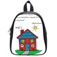 No School Greater    School Bags (small)  by athenastemple