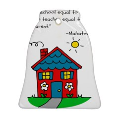 No School Greater    Bell Ornament (two Sides) by athenastemple
