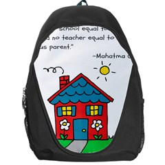 No School Greater    Backpack Bag by athenastemple