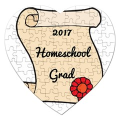 2017 Homeschool Grad! Jigsaw Puzzle (heart) by athenastemple