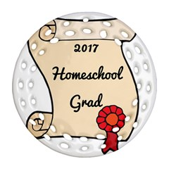 2017 Homeschool Grad! Round Filigree Ornament (two Sides) by athenastemple