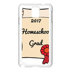 2017 Homeschool Grad! Samsung Galaxy Note 3 N9005 Case (white) by athenastemple