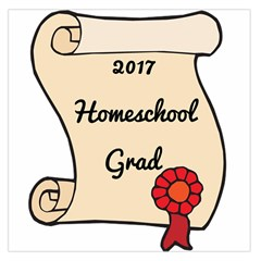 2017 Homeschool Grad! Large Satin Scarf (square) by athenastemple