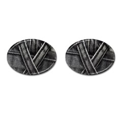 Backdrop Belt Black Casual Closeup Cufflinks (oval) by Nexatart