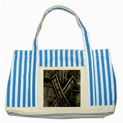 Backdrop Belt Black Casual Closeup Striped Blue Tote Bag by Nexatart