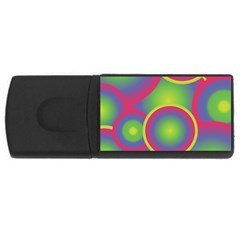 Background Colourful Circles Usb Flash Drive Rectangular (4 Gb) by Nexatart