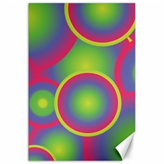 Background Colourful Circles Canvas 20  X 30   by Nexatart