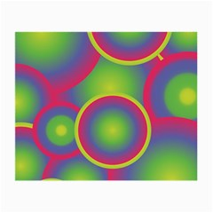 Background Colourful Circles Small Glasses Cloth (2 Side)