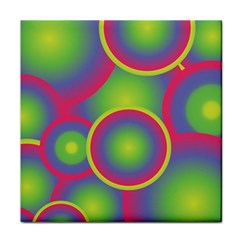 Background Colourful Circles Face Towel by Nexatart