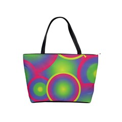 Background Colourful Circles Shoulder Handbags by Nexatart