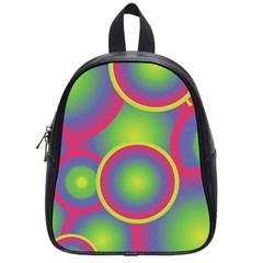 Background Colourful Circles School Bags (small)  by Nexatart