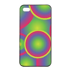 Background Colourful Circles Apple Iphone 4/4s Seamless Case (black)