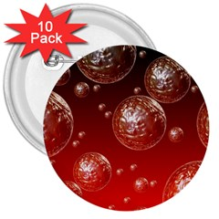 Background Red Blow Balls Deco 3  Buttons (10 Pack)
