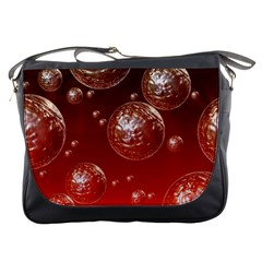 Background Red Blow Balls Deco Messenger Bags