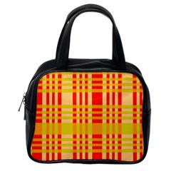 Check Pattern Classic Handbags (one Side) by Nexatart