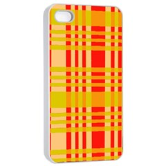 Check Pattern Apple Iphone 4/4s Seamless Case (white) by Nexatart