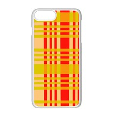 Check Pattern Apple Iphone 7 Plus White Seamless Case by Nexatart