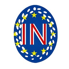Britain Eu Remain Ornament (oval Filigree)