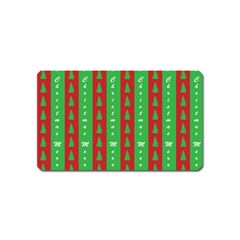 Christmas Tree Background Magnet (name Card)