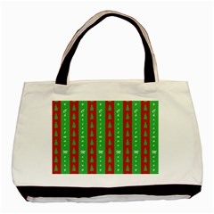 Christmas Tree Background Basic Tote Bag by Nexatart