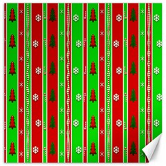Christmas Paper Pattern Canvas 12  X 12   by Nexatart
