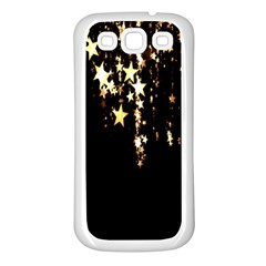 Christmas Star Advent Background Samsung Galaxy S3 Back Case (white) by Nexatart