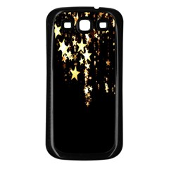 Christmas Star Advent Background Samsung Galaxy S3 Back Case (black) by Nexatart