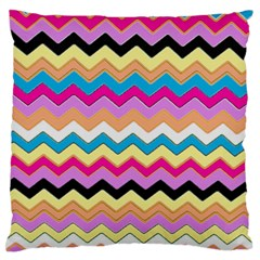 Chevrons Pattern Art Background Standard Flano Cushion Case (two Sides)