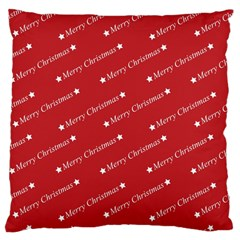 Christmas Paper Background Greeting Large Cushion Case (two Sides)