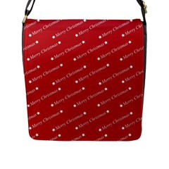 Christmas Paper Background Greeting Flap Messenger Bag (l)