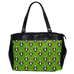 Christmas Penguin Penguins Cute Office Handbags by Nexatart