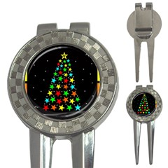 Christmas Time 3 In 1 Golf Divots by Nexatart