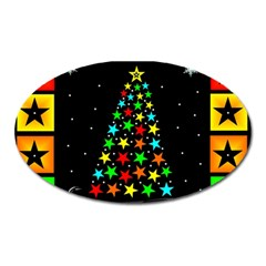 Christmas Time Oval Magnet