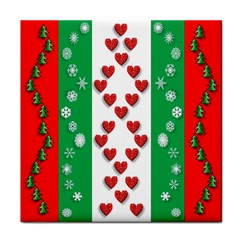 Christmas Snowflakes Christmas Trees Face Towel