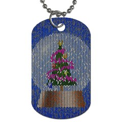 Christmas Snow Dog Tag (one Side) by Nexatart