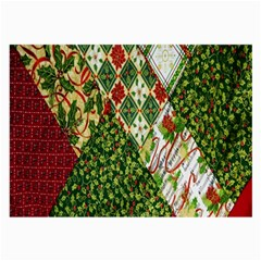 Christmas Quilt Background Large Glasses Cloth (2 Side)