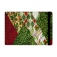 Christmas Quilt Background Ipad Mini 2 Flip Cases by Nexatart