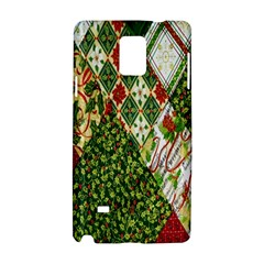 Christmas Quilt Background Samsung Galaxy Note 4 Hardshell Case by Nexatart