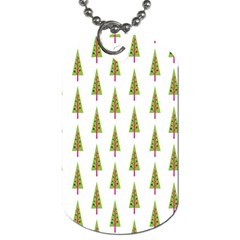 Christmas Tree Dog Tag (one Side) by Nexatart