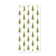 Christmas Tree Apple Iphone 4 Case (white)