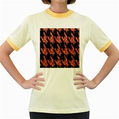 Dogstooth Pattern Closeup Women s Fitted Ringer T Shirts by Nexatart