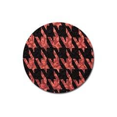Dogstooth Pattern Closeup Magnet 3  (round) by Nexatart