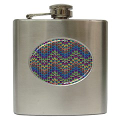 Decorative Ornamental Abstract Hip Flask (6 Oz)