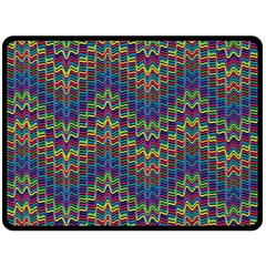 Decorative Ornamental Abstract Double Sided Fleece Blanket (large)  by Nexatart