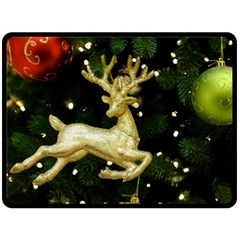December Christmas Cologne Fleece Blanket (large)  by Nexatart