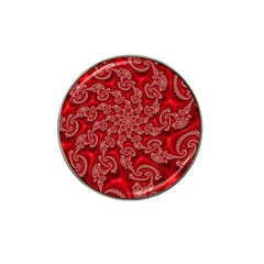 Fractal Art Elegant Red Hat Clip Ball Marker (4 Pack) by Nexatart