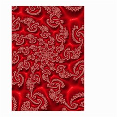 Fractal Art Elegant Red Small Garden Flag (two Sides) by Nexatart